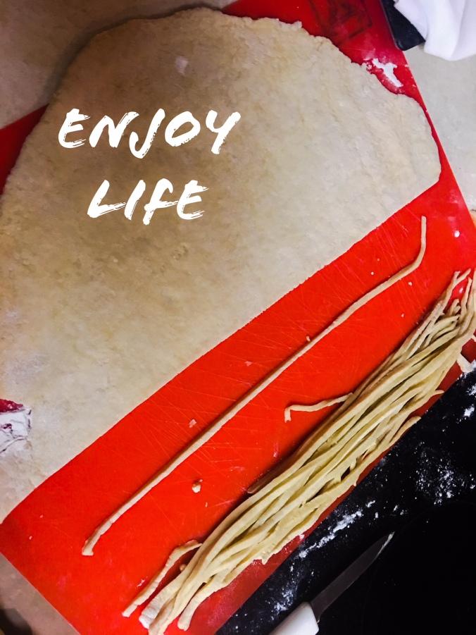 Handmade noodles. Making food brings me peace and joy.