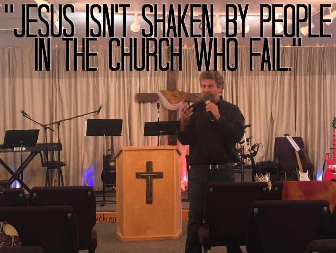 Grace Life Church Pastor Steve preaching on the Love of God. God is not surprised by people who fail.