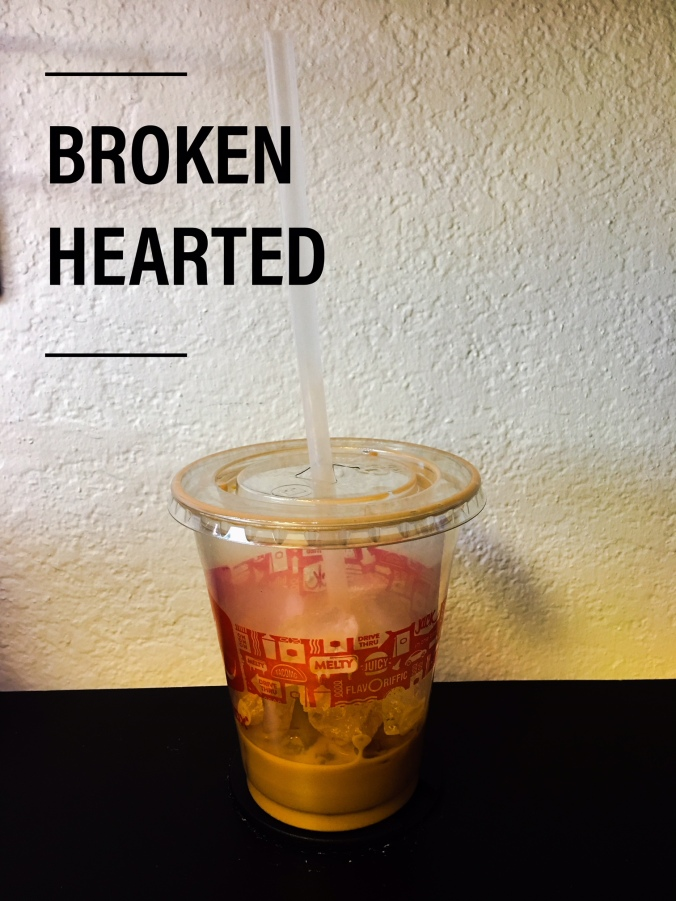 Brokenhearted - Expectations and Letdowns. My empty peppermint coffee.