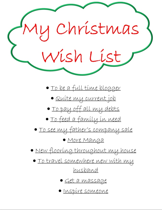 My Christmas Wish List Blogmas